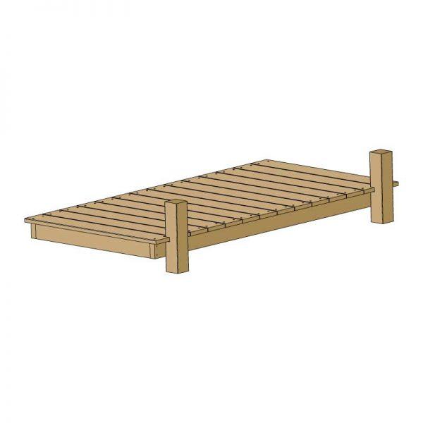 Terrasse en bois pour une tente Mataï - Abriloggia